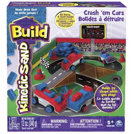Kinetic Sand Build - piasek konstrukcyjny Samochody-Zderzaki 340g