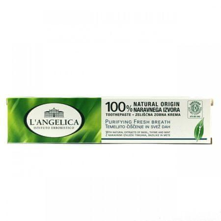L'Angelica zeliščna zobna pasta svež dah, 75 ml