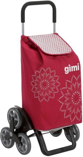 Gimi Tris 56 l Floral červená nákupní taška