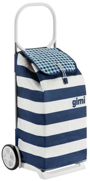 Gimi Italo nákupní taška na kolečkách bílá/modrá
