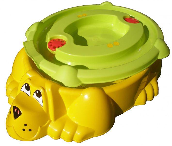 Marian Plast Pískoviště-bazének Pes s krytem žlutá/zelená