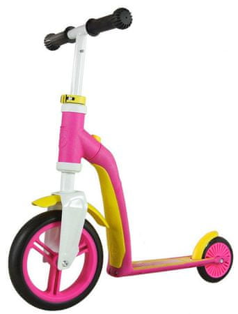 Scoot & Ride Hulajnoga Highwaybaby +, różowo/żółta