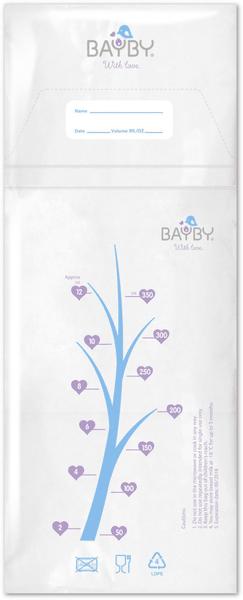 BAYBY BBS 6000 Sáčky na skladování mateřského mléka