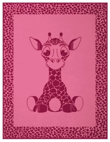 Biederlack Kids Cotton Giraffe 75x100 cm růžová