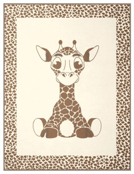Biederlack Kids Cotton Giraffe 75x100 cm béžová