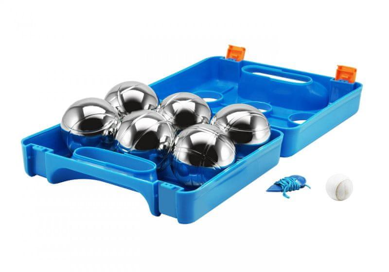 Eddy Toys Petanque v kufříku 6 koulí - modrá