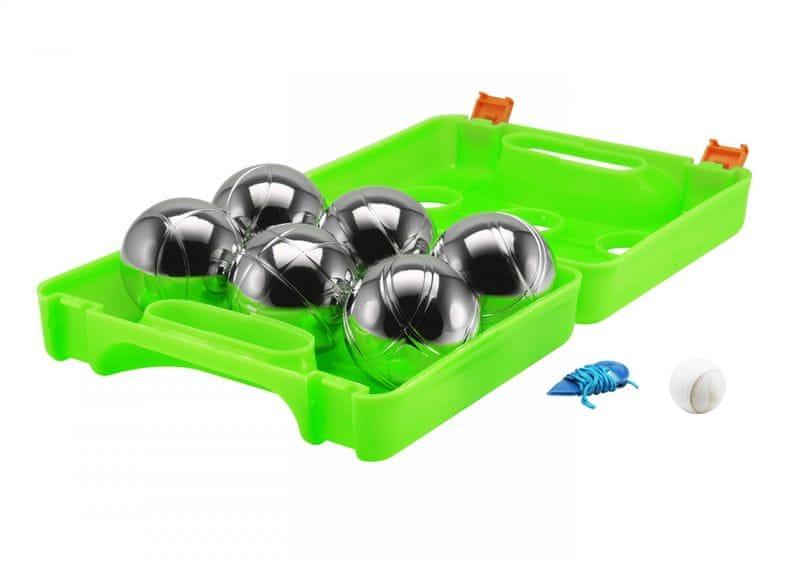 Eddy Toys Petanque v kufříku 6 koulí - zelená