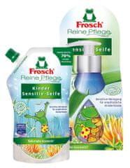 Frosch tekoče milo Sensitive v dozi (300 ml) + nadomestno polnjenje (500 ml), za otroke
