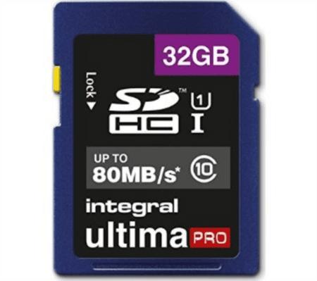 Integral SDHC spominska kartica UltimaPro 32 GB Class10 80MB UHS-I U1 (INSDH32G10-80U1)