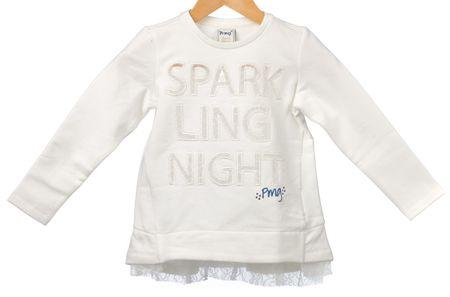 Primigi dívčí šaty s nápisem 128 bílá