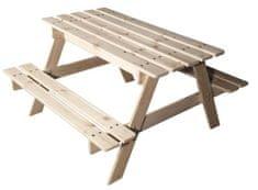 CUBS Dřevěný piknikový stolek s úložným prostorem