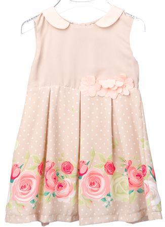 Primigi dekliška obleka 74 bež