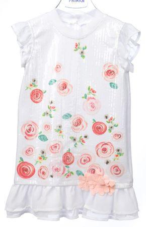 Primigi dekliška obleka 110 bela