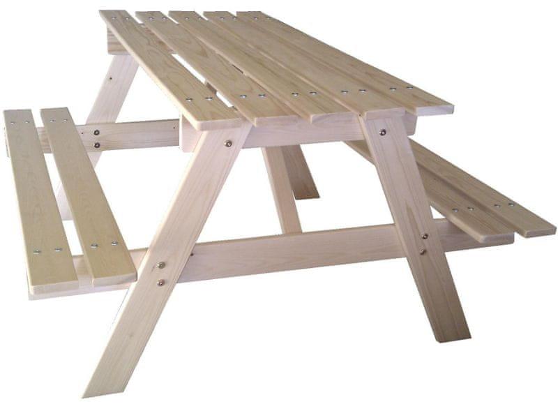 CUBS Dřevěný piknik stolek velký