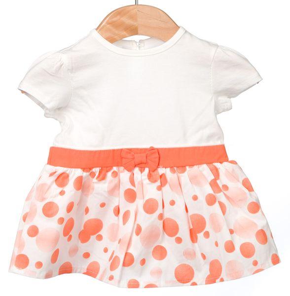 Primigi dívčí set šaty + klobouček 74 bílá