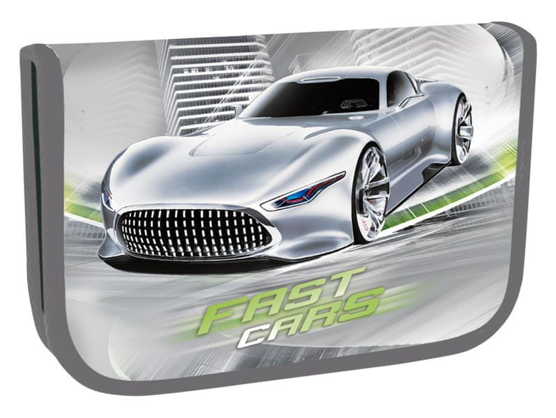 Stil Školní penál jednopatrový Fast Cars
