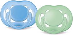 Avent Sensitive Játszócumi 6-18h, Kék/Zöld, 2db