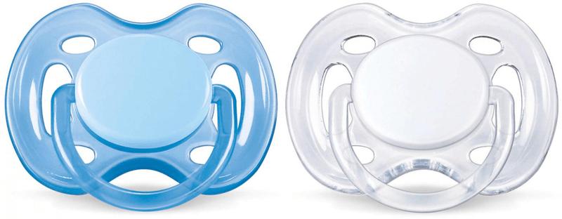 Avent šidítko SENSITIVE 0-6m., 2ks - bílá/modrá