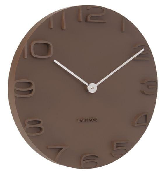 Karlsson Nástěnné hodiny KA5311 hnědá