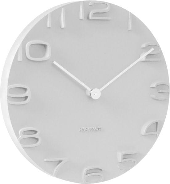 Karlsson Nástěnné hodiny KA5311 bílá