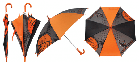 Berg otroški dežnik Street Basketball, oranžen/siv