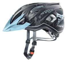 Uvex kask rowerowy Stiva CC Lady Black-Flower Blue Mat