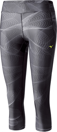 Mizuno spodnie do biegania Lotus 3/4 Tights Black M