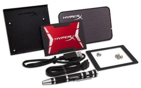 Kingston SSD 240GB HyperX Savage Bundle