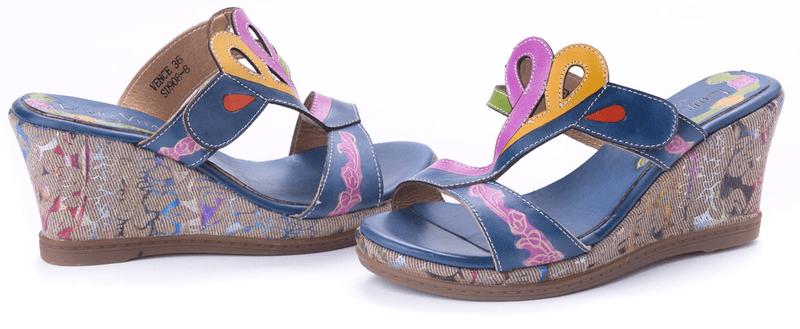 Laura Vita dámské pantofle Vence 39 modrá