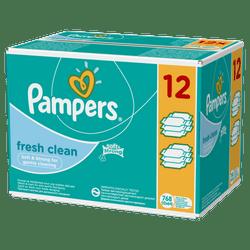 Pampers Chusteczki nawilżane Baby Fresh Clean 12x64 szt.