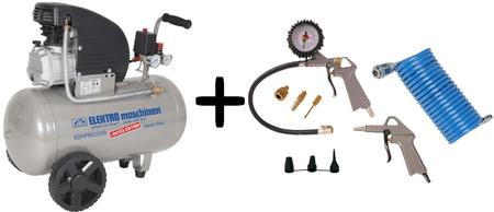 Elektro-Maschinen Batni kompresor E 241/8/50 Limited Editon + 11-delni set pnevmatskega orodja