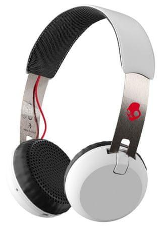 Skullcandy brezžične Bluetooth slušalke Grind Wireless, bele