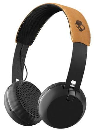 Skullcandy brezžične Bluetooth slušalke Grind Wireless, črno-rjave