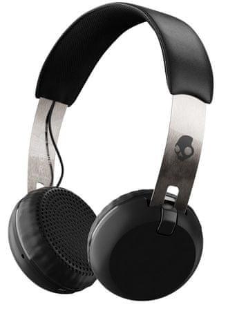 Skullcandy brezžične Bluetooth slušalke Grind Wireless, črno-srebrne