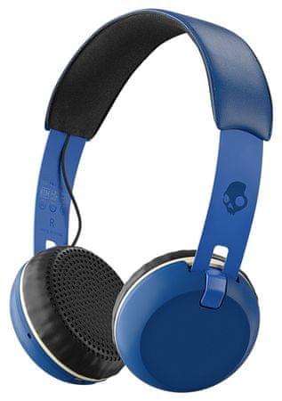 Skullcandy brezžične Bluetooth slušalke Grind Wireless, modre