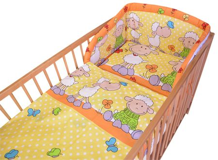 COSING 3-delni set posteljnine Comfort Ovčka, oranžna