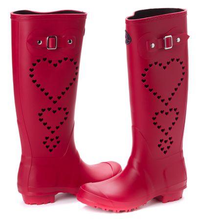 Mei ženski gumijasti škornji 36 rdeča
