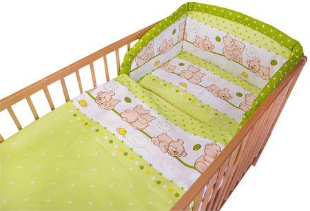 COSING posteljnina Comfort, medvedek, 3-delna, zelena
