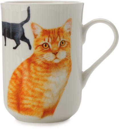 Maxwell & Williams Cashmere Pets Brit rövidszőrű macskás bögre, 300 ml