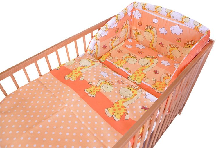 COSING 3-dílná sada povlečení Comfort, Žirafa oranžová