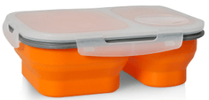 Eldom Silikonový skládací LUNCHBOX, oranžová