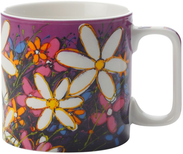 Maxwell & Williams Art Love Life bílá květina 350 ml fialový