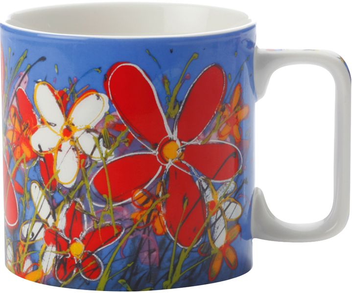 Maxwell & Williams Art Love Life červená květina 350 ml modrý