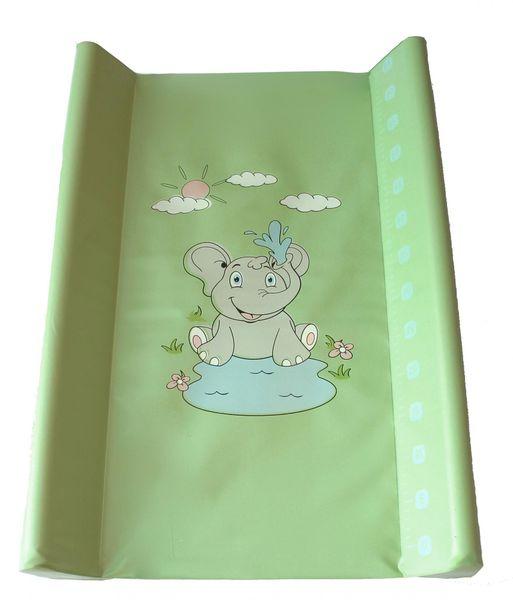 BoboBaby Přebalovací podložka tvrdá 50x70 cm, zelená-sloník