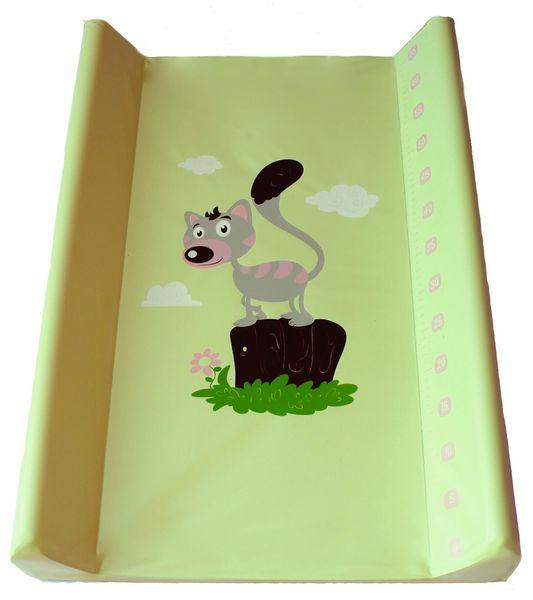BoboBaby Přebalovací podložka tvrdá 50x80 cm, zelená-kotě