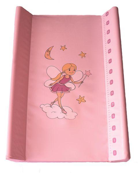 BoboBaby Přebalovací podložka tvrdá 50x70 cm, růžová-víla