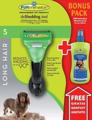 FURminator glavnik Small Long Hair za pse + sprej