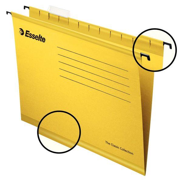 Závěsné desky STANDARD žluté