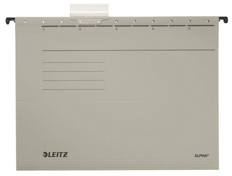 Závěsné desky Leitz ALPHA šedé