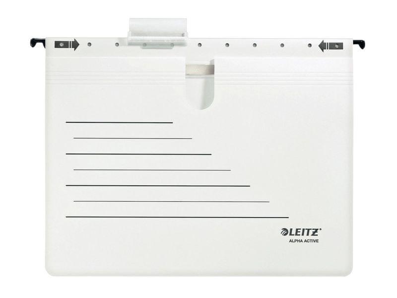 Závěsné desky ALPHA ACTIVE s rychlovazačem bílé